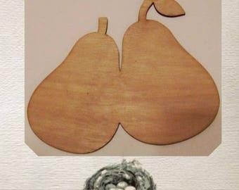 Pear Wood Cut Out - Laser Cut