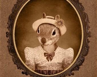 5x7 inch Hot Digital Dog Squirrel Twin Pearl