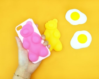 Gummy Jelly Bear Phone Case(Color: Yellow), Unique jelly iPhone Case 6, iPhone 6s, iPhone 6+, iPhone 7, iPhone 7s, iPhone 7+, iPhone X
