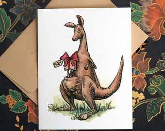Kangaroo Mom, Mothers Day Card.