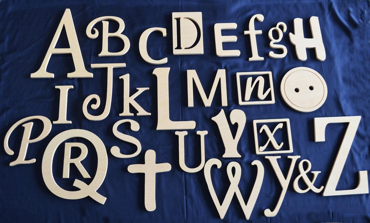 Winter Sale Wooden Alphabet Set Wall Hanging Nursery Decor