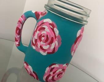 Lilly Pulitzer Inspired Mason Jar