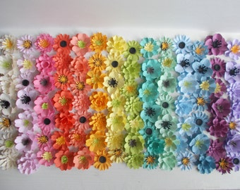 Plantable Seed Paper Flowers Rainbow Assortment of 100 - Eco Friendly Wedding Favor and Party Favor - Plant and Grow