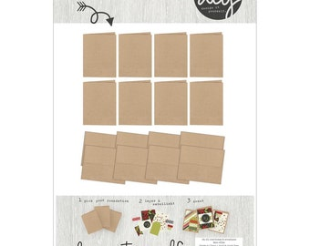 Simple Stories - DIY Christmas Collection - A2 - CARD Bases & Envelopes - Kraft - Special Sale!