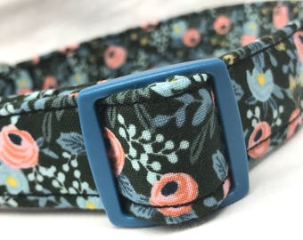 Rifle Paper Co. Dog Collar Les Fleurs Fabric Wedding Flowers Old Fashioned