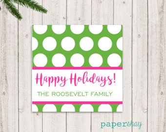 Enclosure Gift Cards, Gift Tags, Stickers, Christmas Gift Enclosure Cards, Monogrammed Stationery Note Cards, Holiday Cards