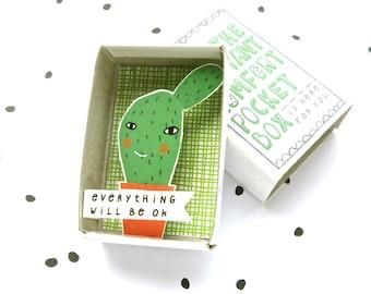 Cactus - The Instant Comfort Pocket Box - alles zal worden ok! -op te vrolijken en troost box