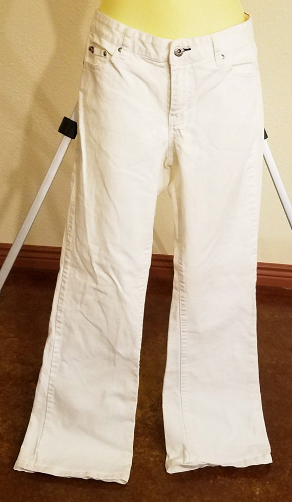 tommy hilfiger jeans womens size 8 white pants 32 x 31 preowned clothing