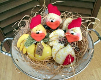Spring Chickens, Easter Chicks, Easter Ornies, Chicken Bowl Fillers, Easter Bowl Fillers, Spring Cupboard Tucks, Hen Party