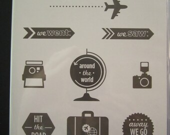 Around the World Clear mount stamp set