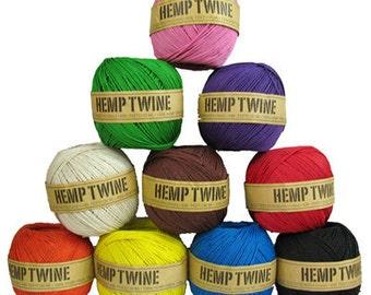 wholesale 10 balls of Hemp Twine 430ft 1mm assorted colors