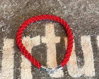 Kumihimo petite beaded bracelet