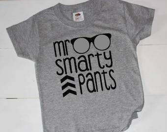 Mr. Smarty Pants, Boys Clothing, Boys Tee, Boys Tshirt, Back to school, Back to school Clothes