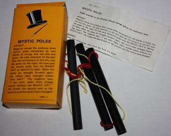 Magic Trick Mystic Poles Remco 1975 Vintage RARE