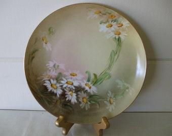 M Z Austria Porcelain Hand Painted Plate of Daises