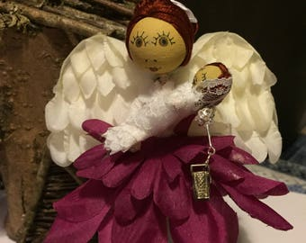 Demelza the handmade Cornish flower fairy