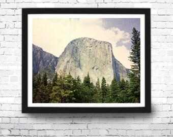 El Capitan Art Print, Mountain Photo, Home Decor, Forest Wall Art, El Capitan Print, Outdoor Art, El Capitan Poster, National Park Art Print