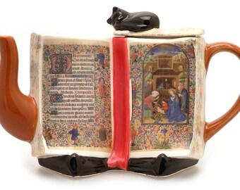 Holy Bible Illuminated Text Teapot