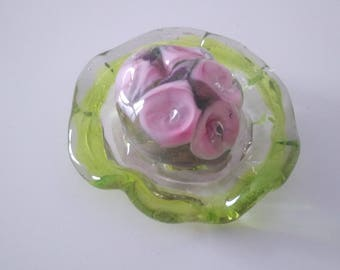 Collection of floral Hat - handmade Lampwork Glass