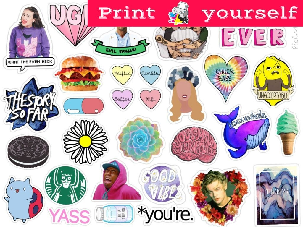 It is an image of Clean Printable Stickers Tumblr
