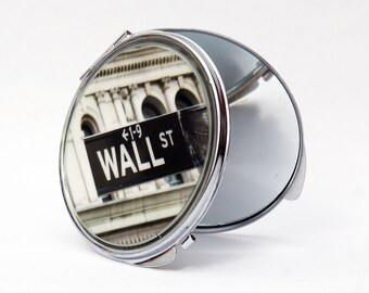 COMPACT MIRROR - Makeup mirror - Wall Street mirror- compact mirror