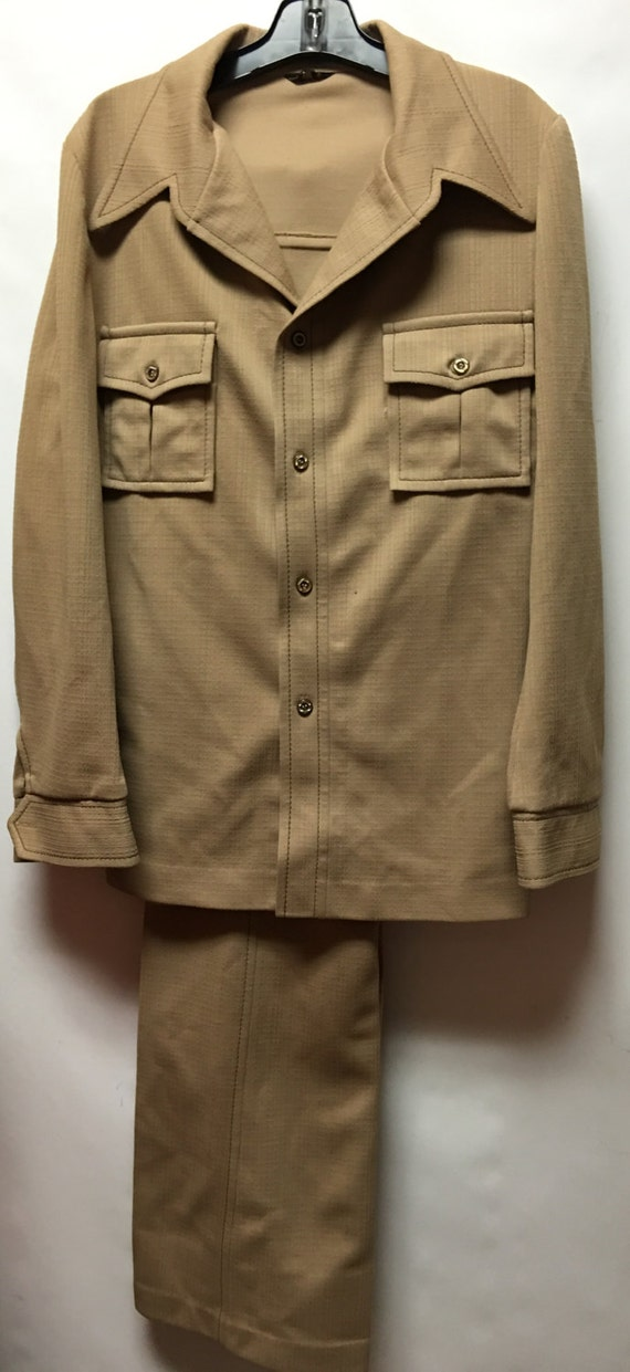 1970s Polyester Haggar Leisure Suit Sz M Vintage Retro Rockabilly Hippie