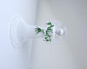 Christmas tree topper angel. White tall crochet angel. Angel decoration. Christmas angel decor. Angel ornament
