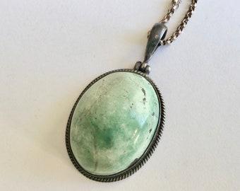 large vintage howlite pendant