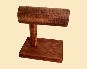 Bracelet Display Stand / Bracelet Holder / Wood T-Bar Jewelry Display / Watch Stand / Trade Show / Collapsible / 10 Color Options