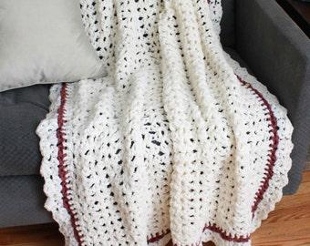 Shell Elegance Afghan Crochet Pattern PDF