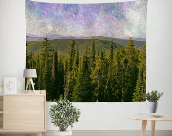 Milky Way Tapestry, Modern Wall Tapestry, Dorm Wall Decor, Celestial Decor, Outer Space Tapestry, Dorm Tapestries, Universe Tapestries