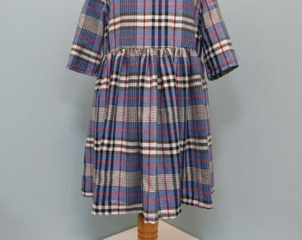 Blue Tartan Girl's Amelie Dress