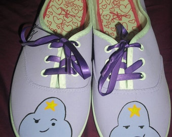 Adventure Time Inspired Lumpy Space Princess hand painted shoes