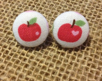 CLEARANCE!  Apple of my Eye Button Earring (Multiple Colors)