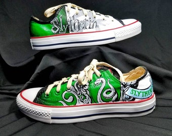 Harry Potter Slytherin Custom Converse Shoes