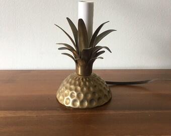 Vintage Pineapple Brass Nightlight