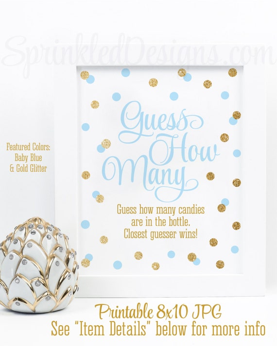 Candy Baby Shower Game: Baby Shower Games Guess How Many Candy Guessing Game