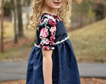 Adaline Dress & Tunic, girls dress patterns, girls dress pdf, PDF Pattern, dress patterns for girls, sewing pattern, sewing patterns, sewing