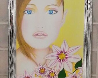 Fairy painting, fairy art, fairy painted pastels