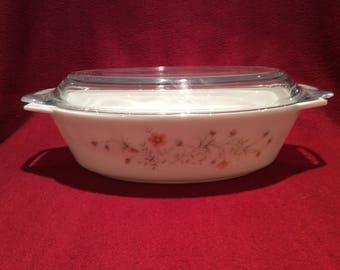 Pyrex Emily Spring Garden 1.5 Litre Oval Casserole Dish Circa 1986