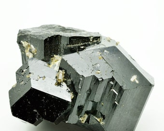 Black Tourmaline cluster with smoky quartz  BT53
