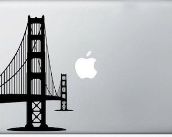 Golden Gate Bridge, San Francisco laptop DECAL- macbook iPad computer- vinyl sticker SF hippie