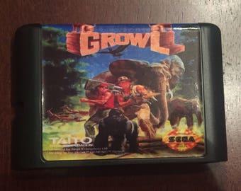 Growl Fan Made Custom Sega Genesis Game. 16 bit Runark!