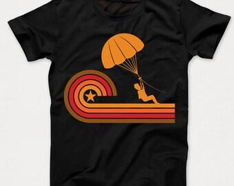Retro Style Parasailing Vintage Kids T-Shirt