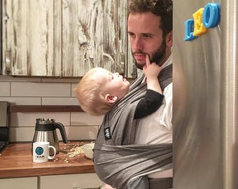 xoxo buckle wrap baby carrier - parent fog (made with eco2 cotton)