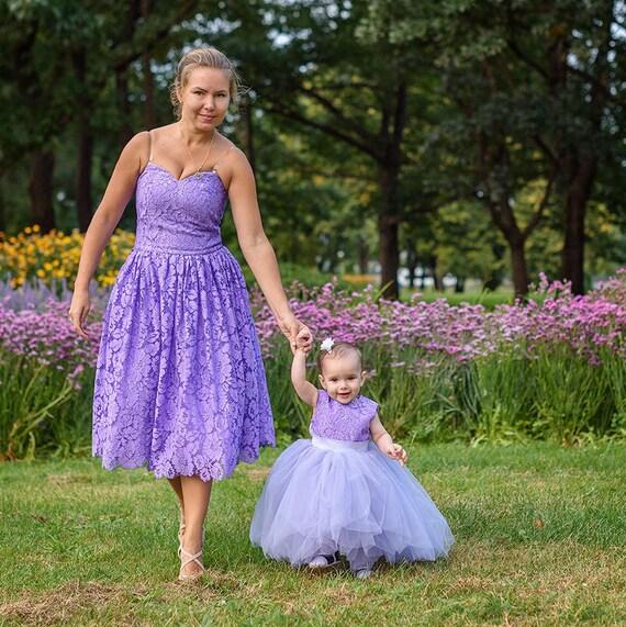 Outfit-Mutter-Tochter-Kleider Mama und mich Kleid passenden