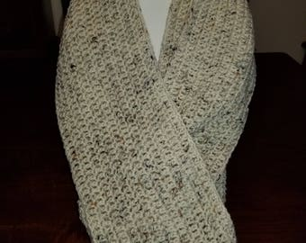Tan Speckled Infinity Scarf