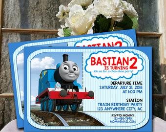 Train Invitation Thomas The Birthday Party Printable UF0137