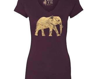 Elephant V-Neck T-Shirt, 10% donated to animal causes