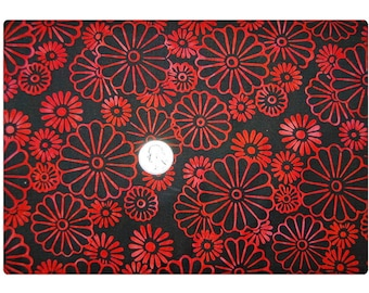 Red Pop Daisy - Fabric By The Yard